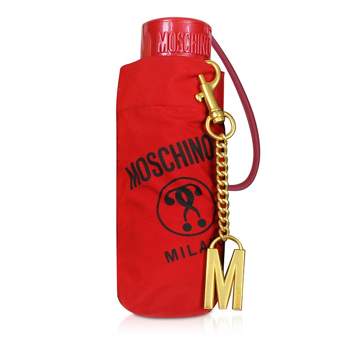 SuperMini Signature Umbrella w/Golden M Charm - Moschino