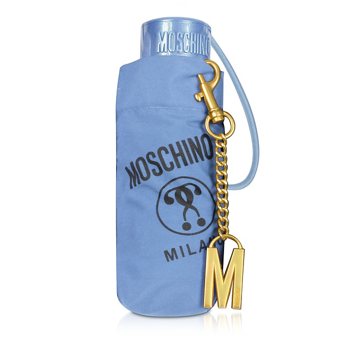 SuperMini Signature Umbrella w/Golden M Charm - Moschino