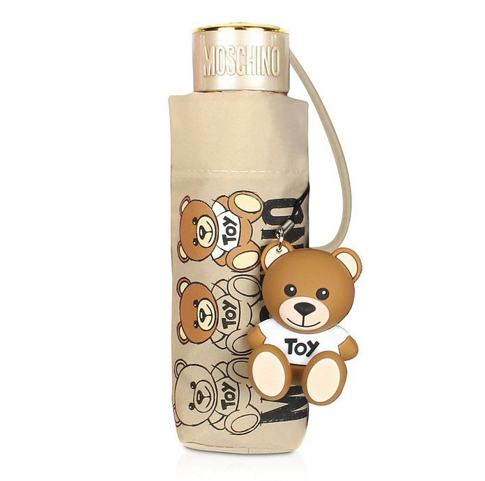 SuperMini Scribble Bear Umbrella w/Bear Charm - Moschino