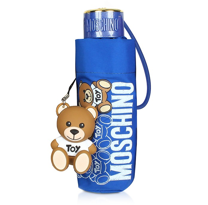 SuperMini Scribble Bear Umbrella w/Bear Charm - Moschino
