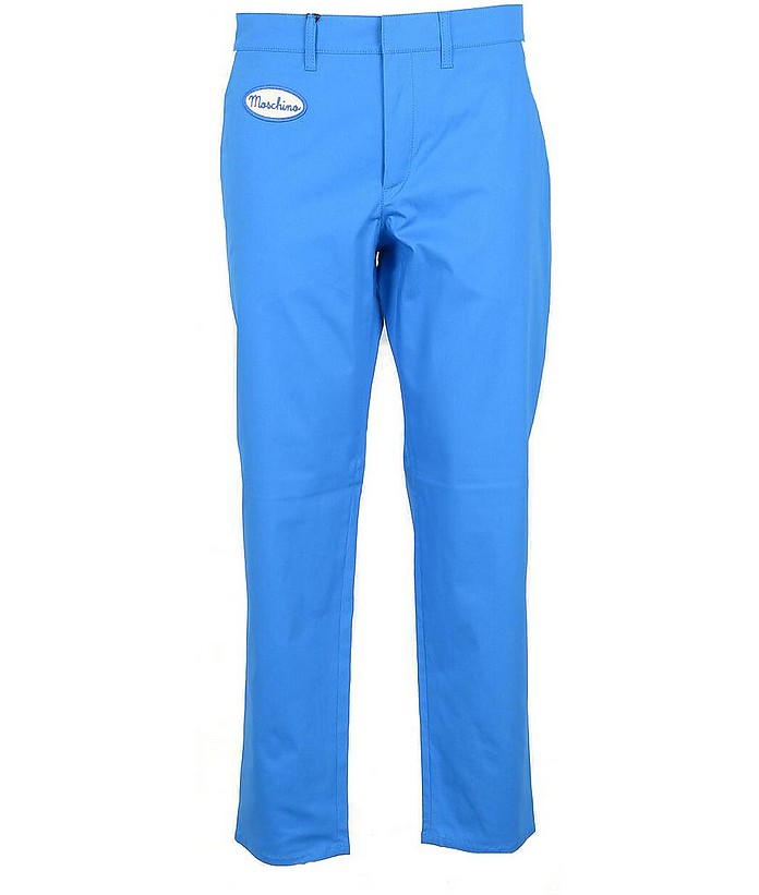 Men's Blue Pants - Moschino