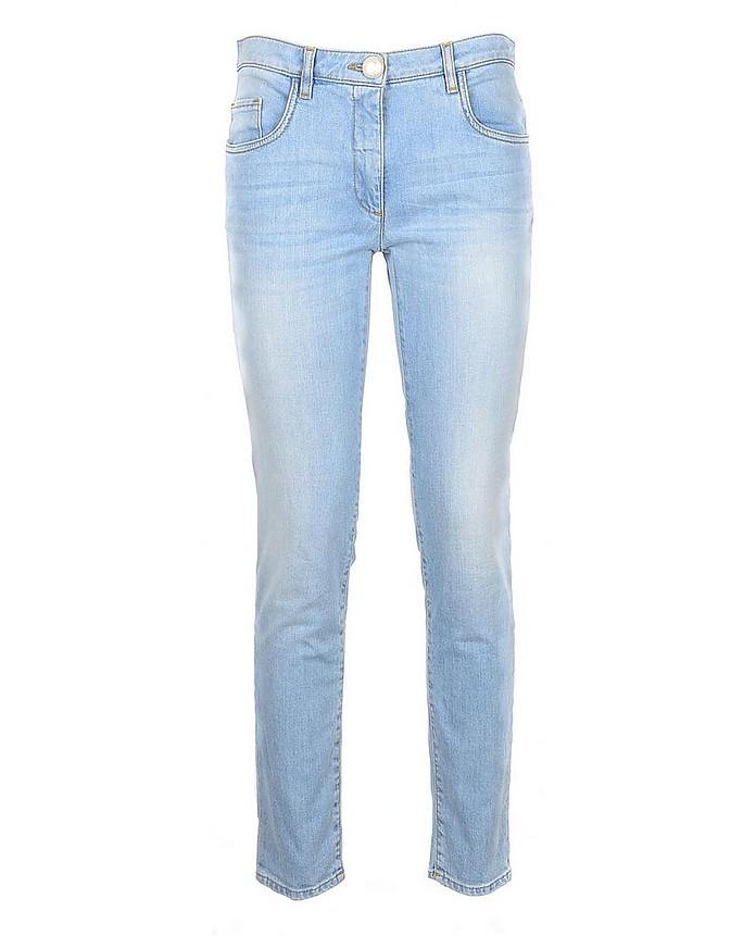 Women's Sky Blue Jeans - Moschino