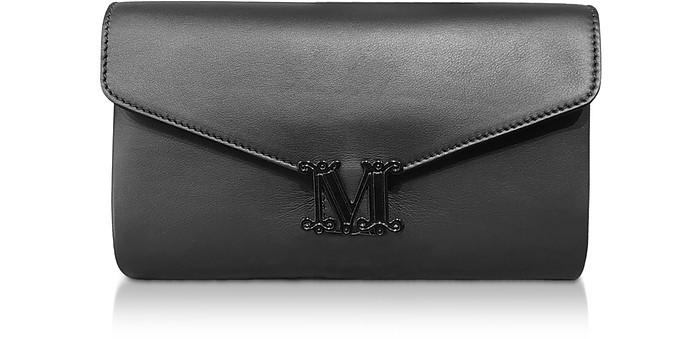 Black Leather Linda Clutch - Max Mara