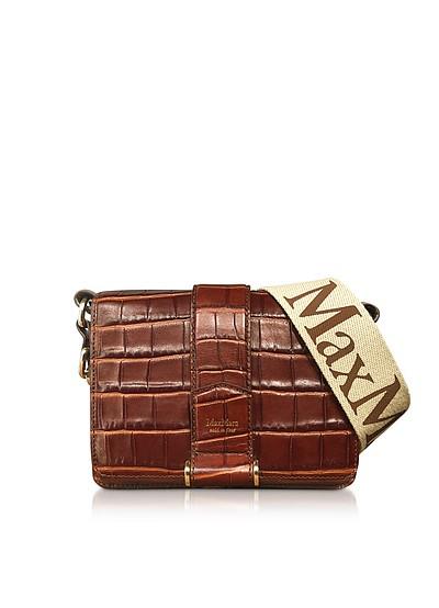 Embossed Leather Charl S Crossbody Bag - Max Mara