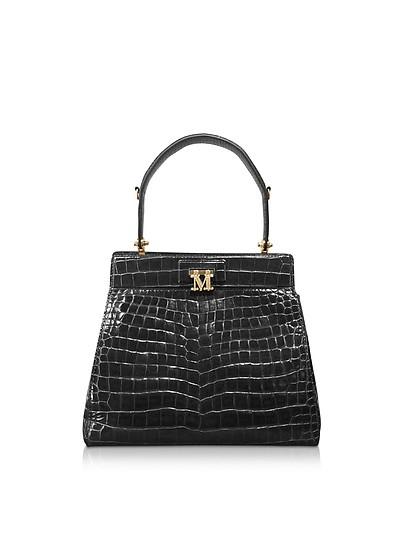Embossed Leather Marlen 3 Top-Handle Satchel Bag - Max Mara