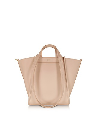 741f70f2d3a00 Pure Leather and Cashmere Reversible Small Tote - Max Mara