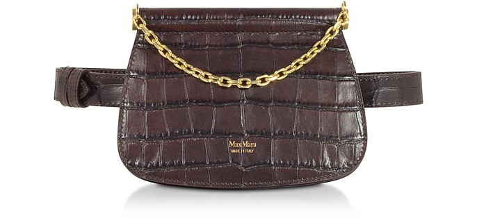 Jana Croco Embossed Leather Belt Bag - Max Mara