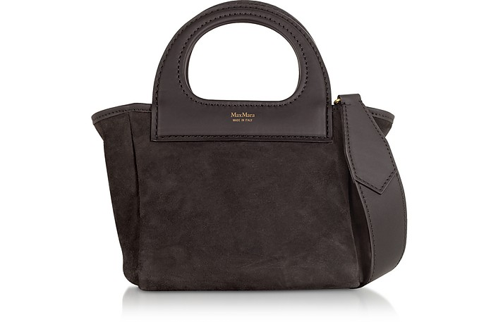 Dark Brown Reversible Nano Top Handle Bag - Max Mara