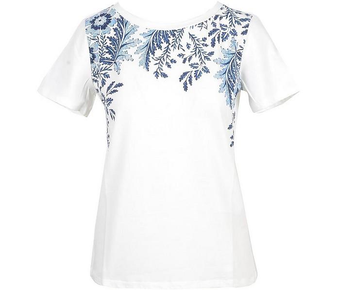 Women's White / Blue T-Shirt - Max Mara