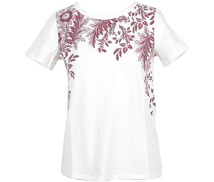 Women's White / Red T-Shirt - Max Mara