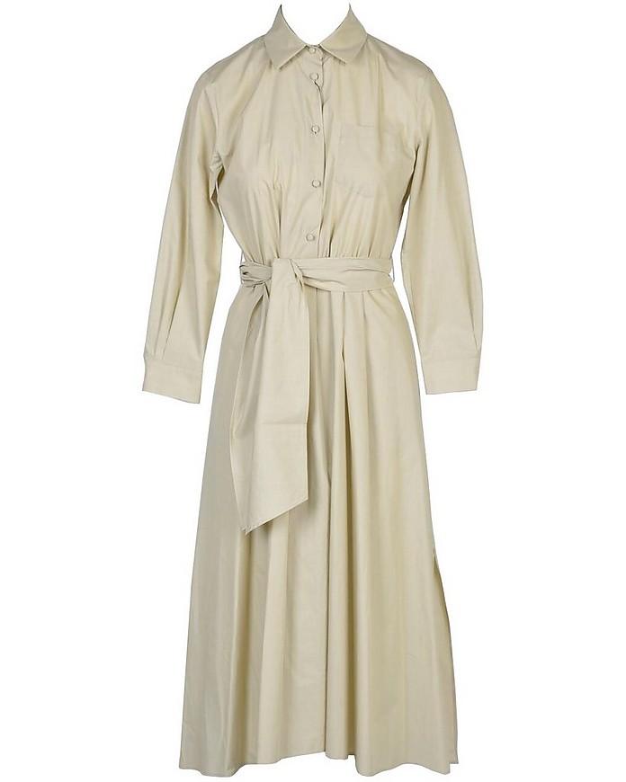 Beige Cotton Poplin Shirt Dress - Max Mara