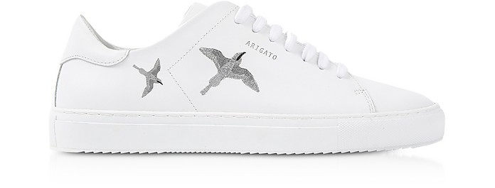 Axel Arigato Sneakers Clean 90 Bird White & Silver Leather Women's Sneakers