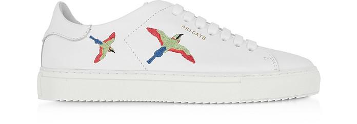 Clean 90 Bird White Leather Women's Sneakers - Axel Arigato