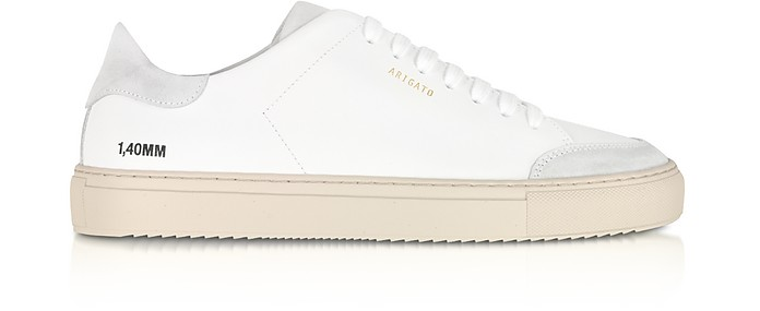 Clean 90 Triple White Grey Leather Men's Sneakers - Axel Arigato