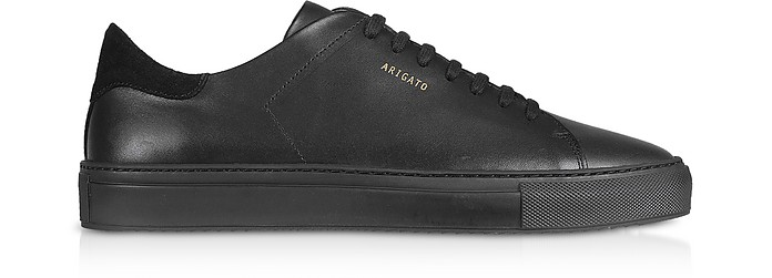 Clean 90 Black Leather Men's Sneakers - Axel Arigato