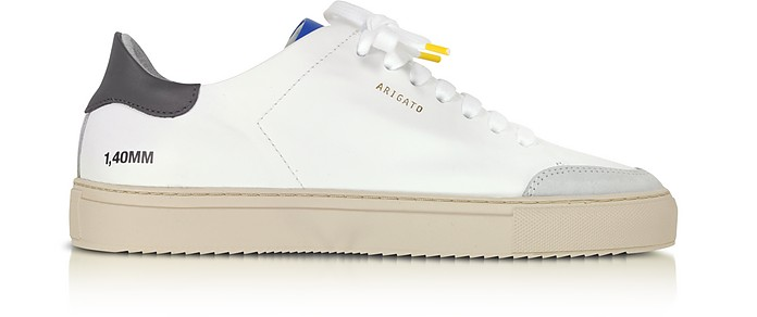 Clean 90 Triple Green, Blue,Yellow Leather Men's Sneakers - Axel Arigato
