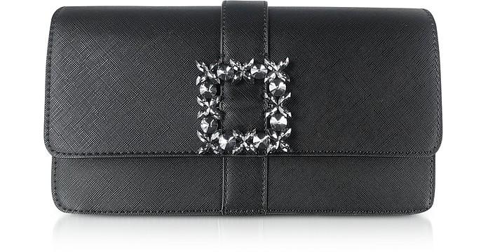 Saffiano Eco-Leather Crystals Clutch - Ermanno Scervino