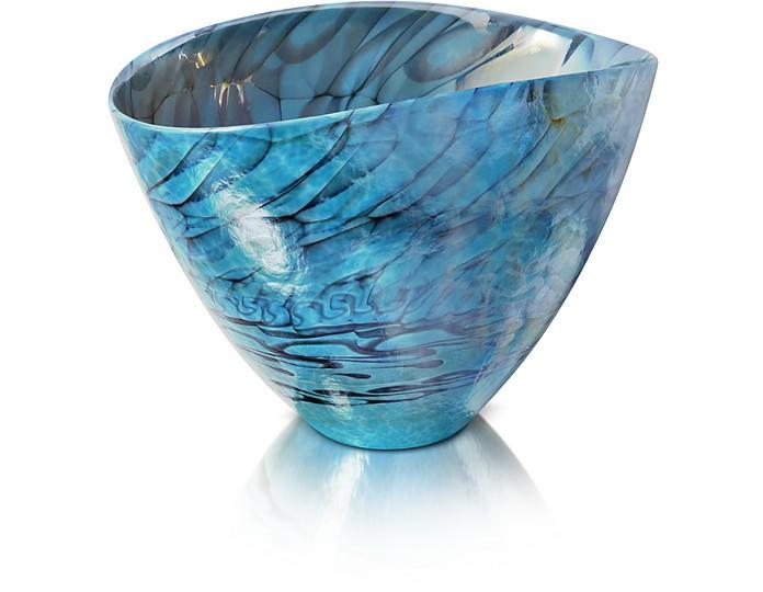 Belus - Turquoise Murano Glass Vase  - Yalos Murano