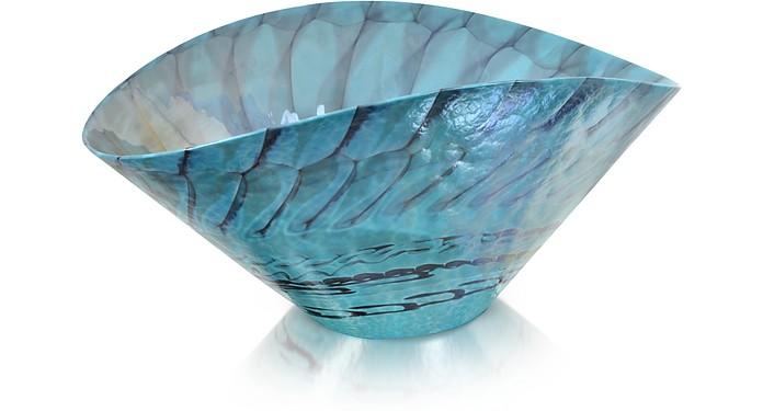 Belus - Turquoise Murano Glass Centerpiece - Yalos Murano