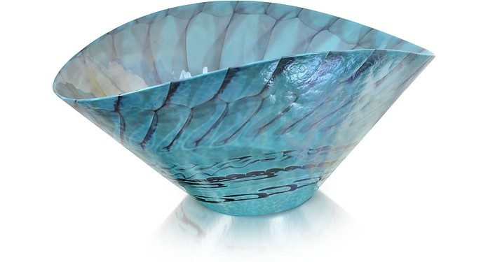 Belus - Centre de Table en Verre de Murano Turquoise - Yalos Murano