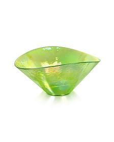 Tango - Green Swirl Murano Glass Bowl - Yalos Murano