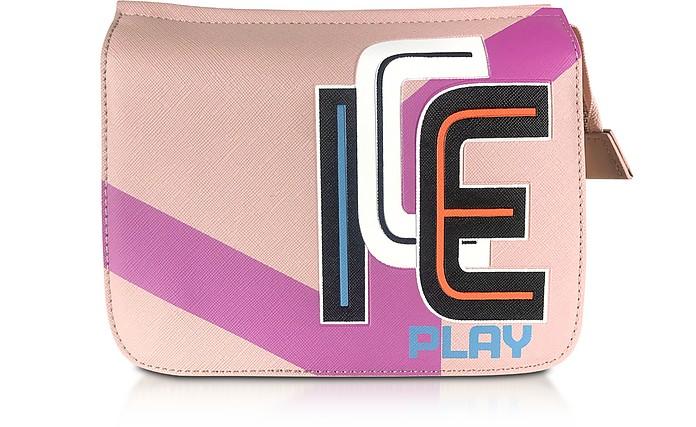 Color Block Saffiano Eco Leather Camera Bag - Ice Play