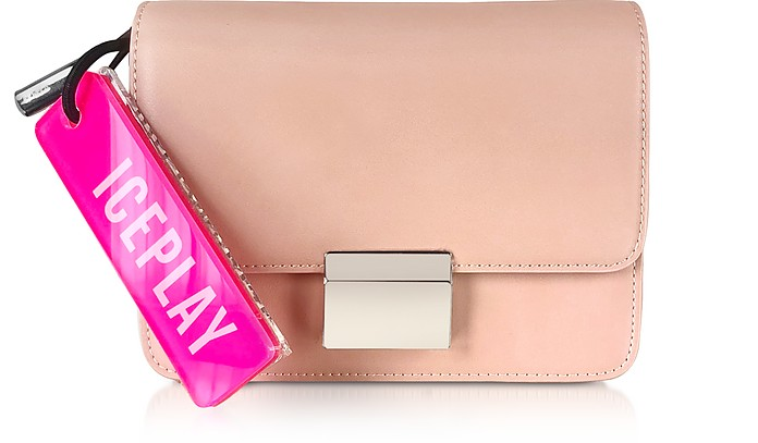 Flap-Top Shoulder Bag w/Fluo Signature Tag - Ice Play