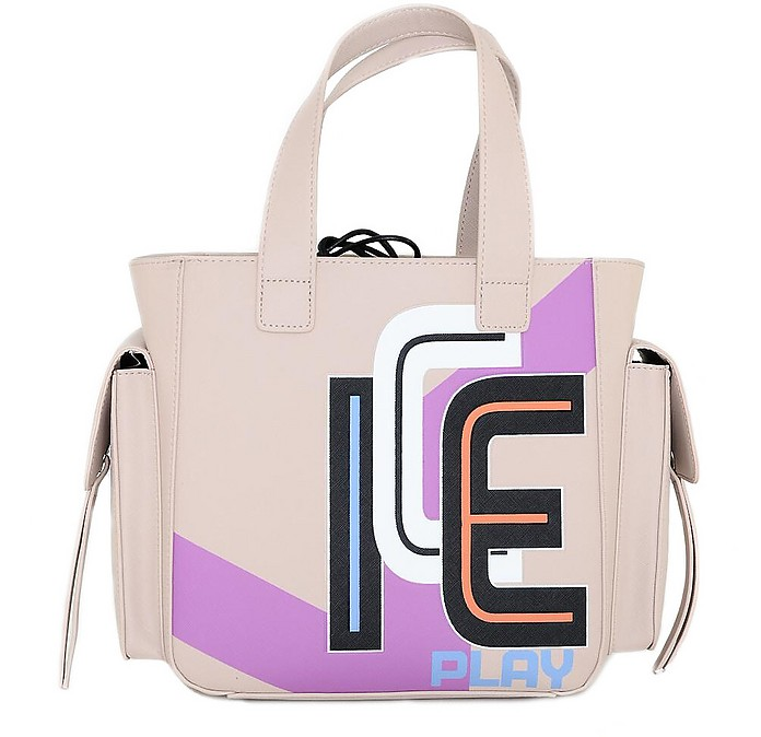 Color Block Top-Handles Small Tote - Ice Play