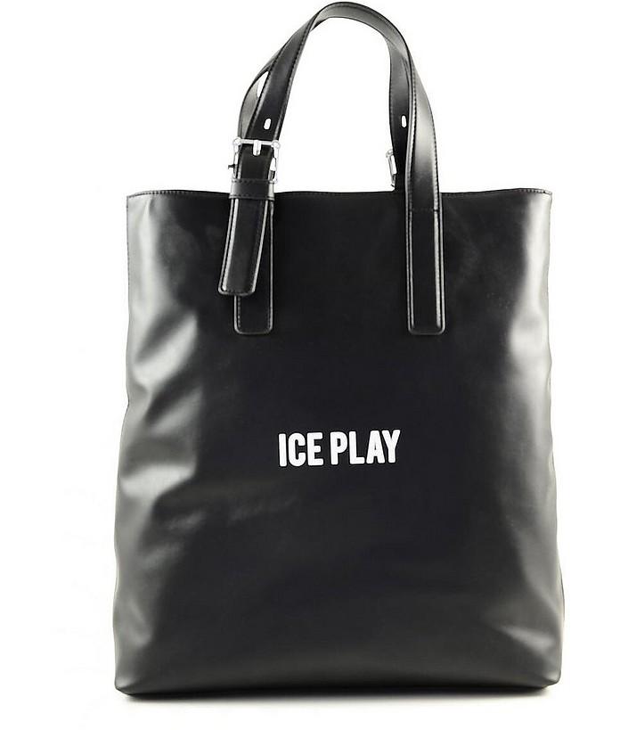 Black Signature Tote Bag - Ice Play