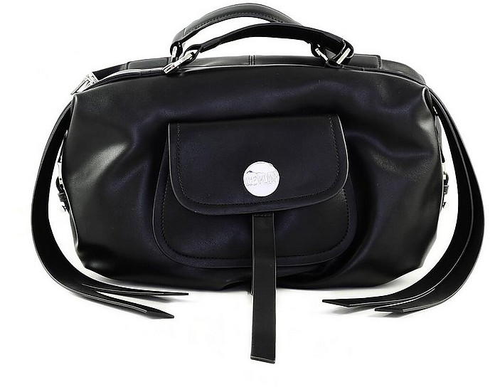 Black Front Zip Tote - Ice Play
