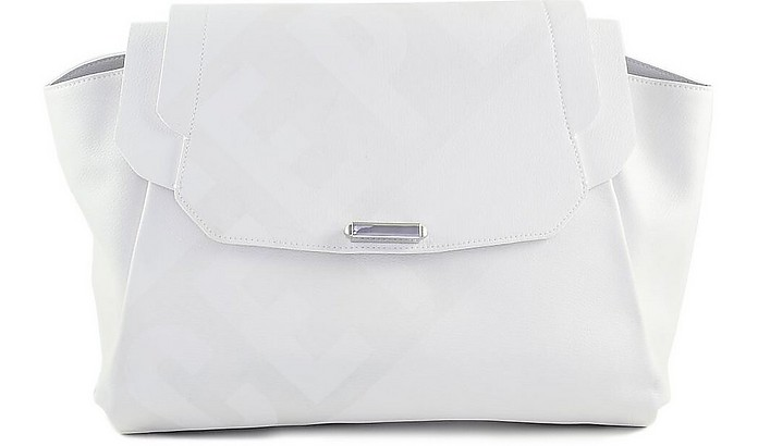 White Top Handle Satchel Bag - Ice Play