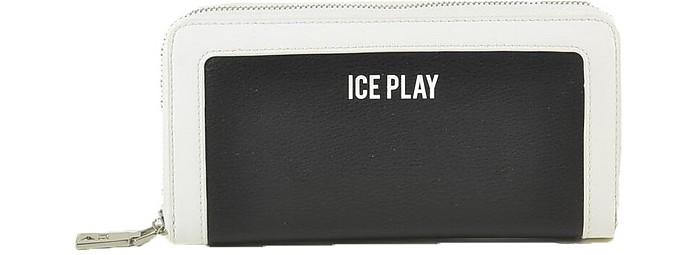Women's Black White Wallet - Ice Play