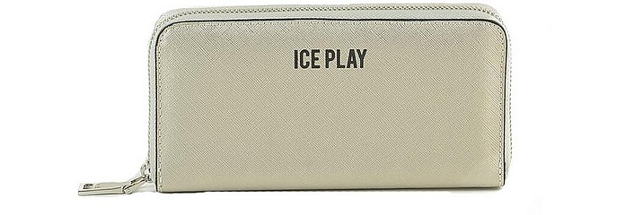 Women's Silver Wallet - Ice Play / アイスプレイ