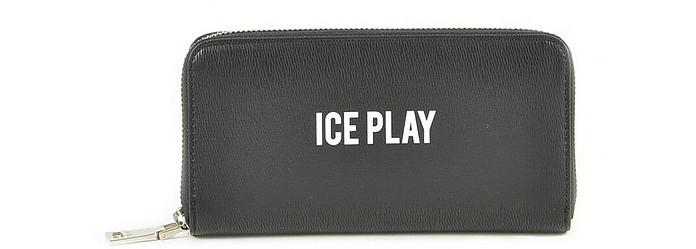 Women's Black Wallet - Ice Play / アイスプレイ