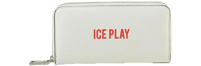 Women's White Wallet - Ice Play / アイスプレイ