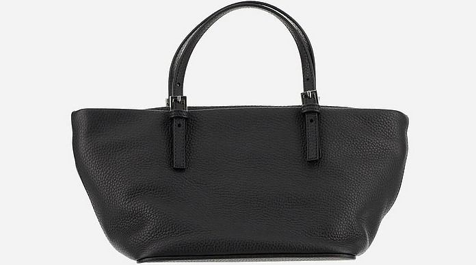 Black Grainy Leather Tote bag - By Far