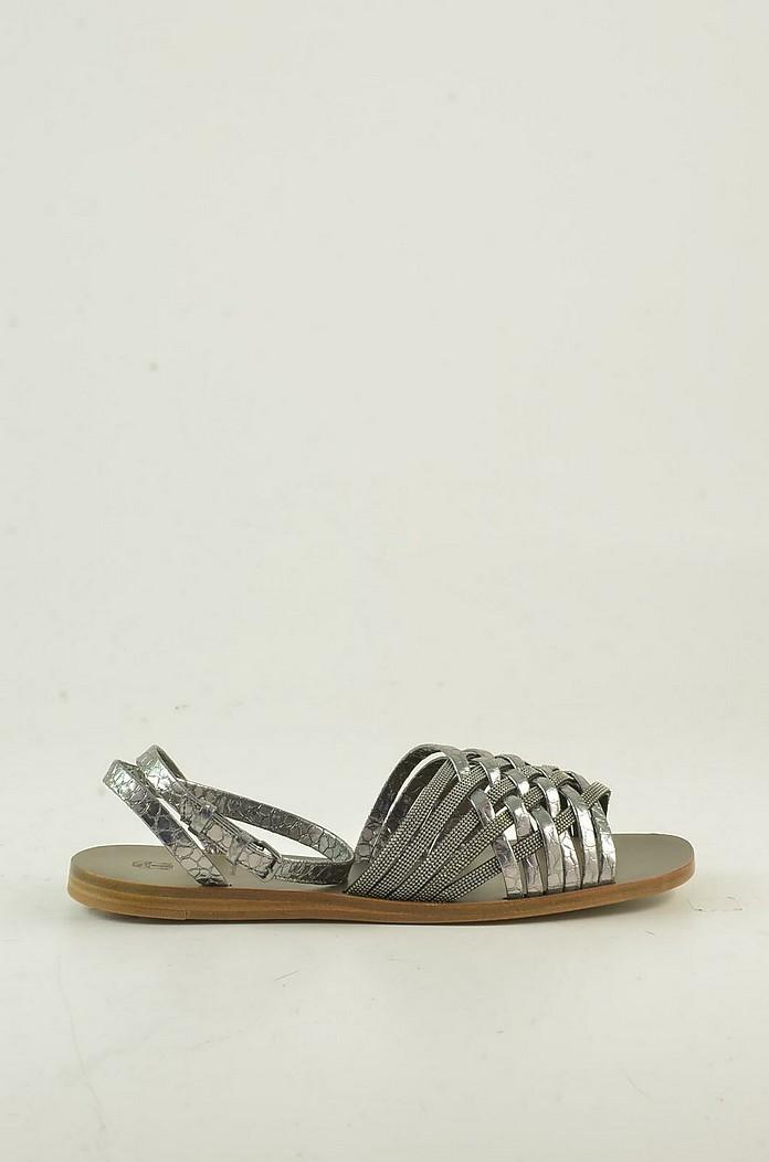 Women's Silver Sandals - Brunello Cucinelli