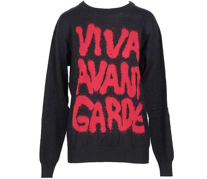 Viva Avant Garde Black Cotton Women's Sweater - Jeremy Scott / ジェレミースコット