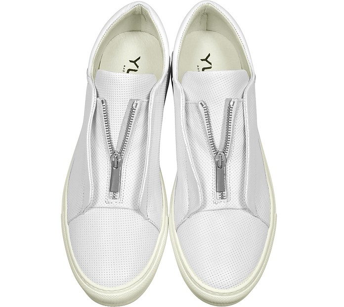 Nerone Sneakers da Uomo in Pelle Traforata Bianca Ylati 39 (39 EU) 6zcdyXYZ