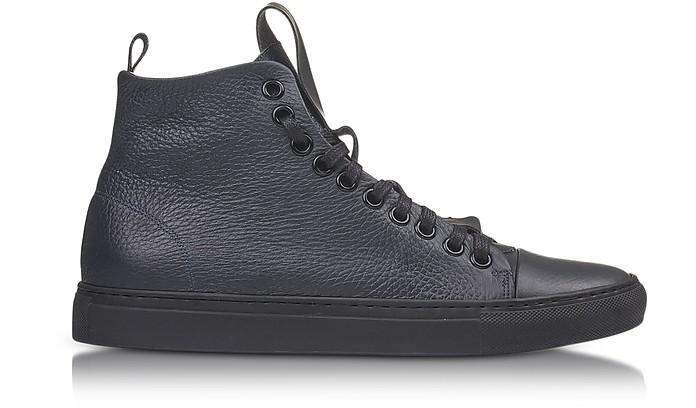 the latest f162c 5d862 Sorrento High Dark Blue Leather Men's Sneaker