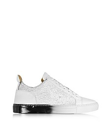 Amalfi Low 2.0 White Laser Cut Leather Men's Sneaker - Ylati