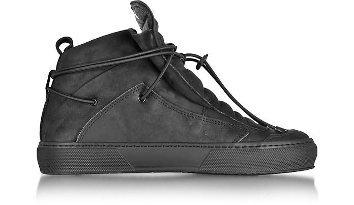 Ulisse Black Nabuk High Top Sneaker - Ylati