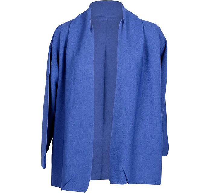 Blue Viscose & Silk Women's Cardigan - Cashmere Company
