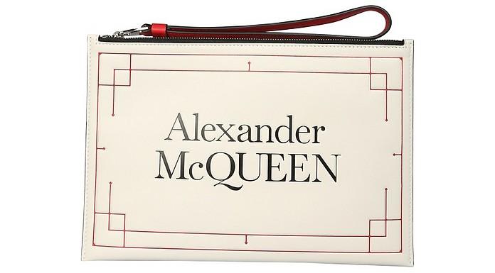Clutch With Logo - Alexander McQueen