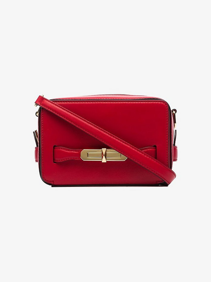 Red Myth leather camera bag - Alexander McQueen
