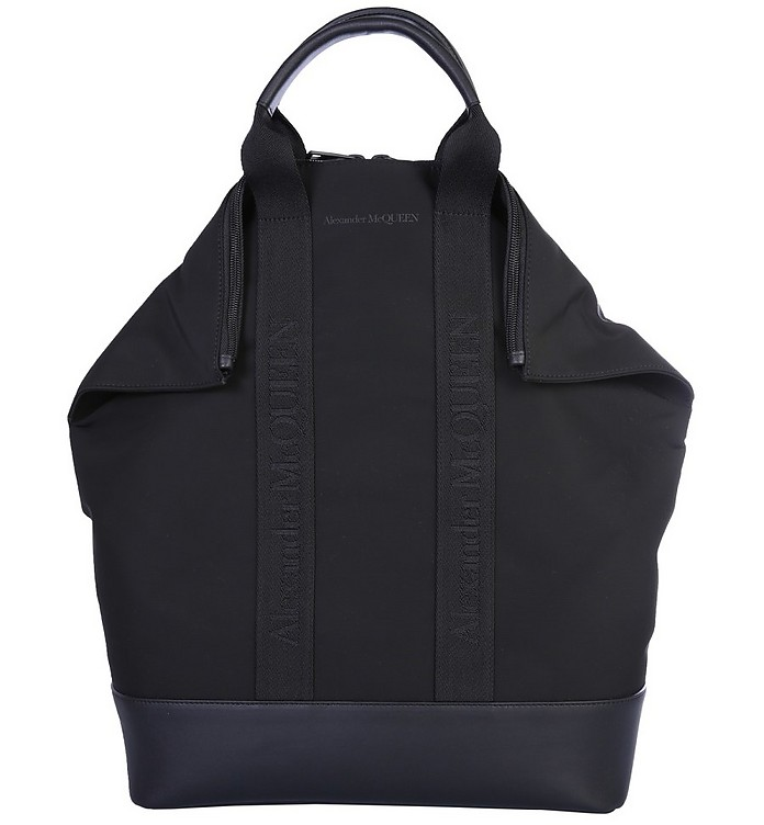 Black Nylon Demanta Backpack - Alexander McQueen
