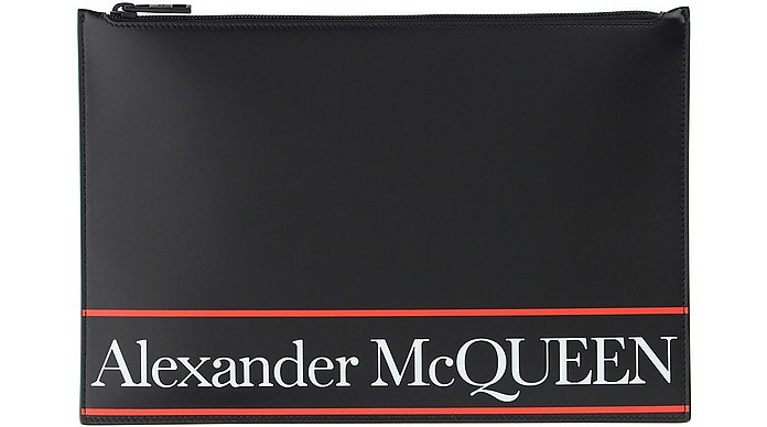 Black & Red Signature Wallet Clutch - Alexander McQueen / アレキサンダーマックイーン