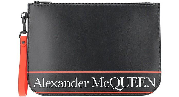 Black & Red Signature Wallet Clutch - Alexander McQueen