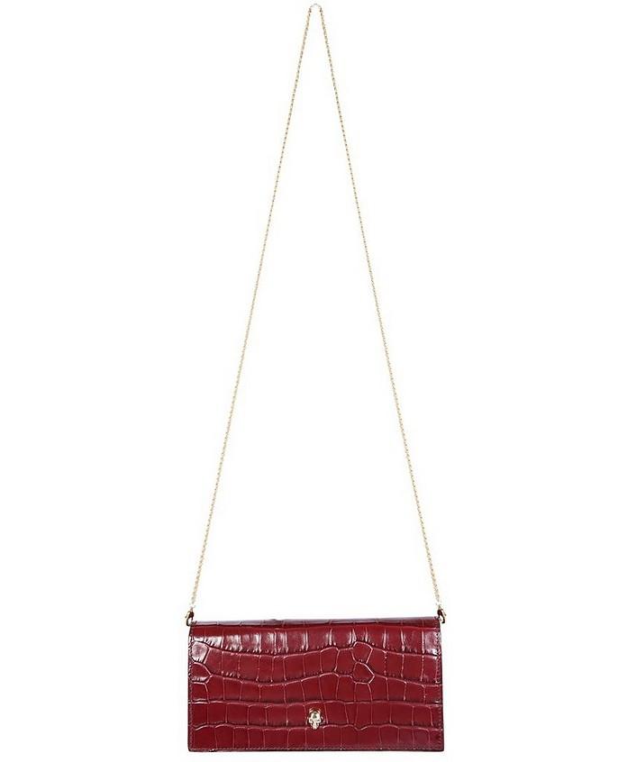 Dark Red Skull Chain Wallet  - Alexander McQueen / アレキサンダーマックイーン