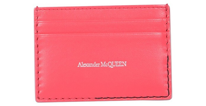 Leather Card Holder - Alexander McQueen